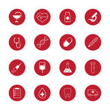 Set of vector medical icons and research Stock Images