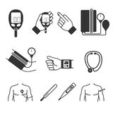 Set of vector medical measurement and tools Royalty Free Stock Images