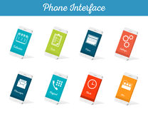 Set of Vector Models Interface Smartphone Royalty Free Stock Photo