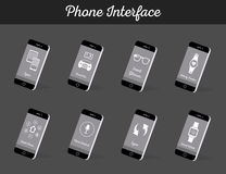 Set of Vector Models Interface Smartphone Royalty Free Stock Images