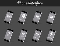 Set of Vector Models Interface Smartphone Stock Images