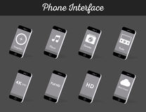 Set of Vector Models Interface Smartphone Stock Photography
