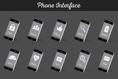 Set of Vector Models Interface Smartphone Royalty Free Stock Photography