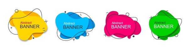 Set of vector modern abstract banners. royalty free illustration
