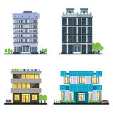 Set of vector modern business center with diverse Stock Images