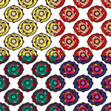 Set of vector modern seamless colorful geometry patterns, color abstract geometric background, pillow multicolored print. Texture, fashion design, ceramic Stock Photos