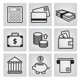 Set of vector money icons Royalty Free Stock Images