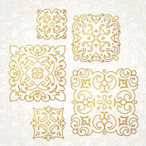 Set of vector monograms for design template. Stock Image