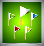 Set of vector multicolored flag pins Royalty Free Stock Photography