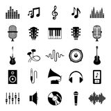 Set of Vector Music Icons on White royalty free illustration