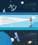 Set of vector navigation. Big Set of navigation, flat vector illustrations royalty free illustration