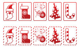 Set of vector New Year icons Stock Photo