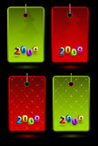 Set of vector New Year labels Royalty Free Stock Images