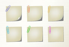 Set vector notepad pages and clips Stock Image