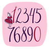 Set of vector numbers with A Little Princess Royalty Free Stock Photo