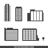 Set of vector office buildings, apartments Royalty Free Stock Photo