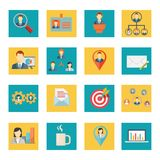 Set of vector office and business icons Royalty Free Stock Photography