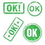 Ok stamp. Set of vector OK stamp Royalty Free Stock Photos