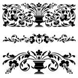 Set of vector old ornaments Royalty Free Stock Image