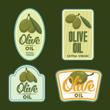 Set of vector Olive oil badges. Stock Photos