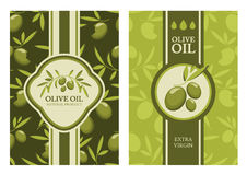 Set of vector olive seamless pattern, labels, stickers. Royalty Free Stock Photos