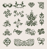 Set Of Vector Ornament In Flower Style Stock Photo