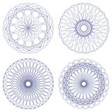 Set of vector ornament rosettes Stock Photography