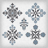 Set of vector ornaments. Royalty Free Stock Images