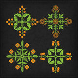 Set of vector ornaments. Stock Images