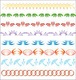 Set of vector ornaments for design. Set of ornaments for the design Stock Photos