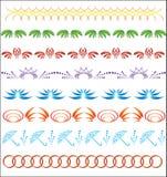 Set of vector ornaments for design Stock Photos