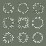 Set of vector outline design elements Stock Images