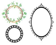 Set - vector oval and round frames Stock Image