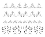 Set of vector page decoration elements or borders Royalty Free Stock Photo