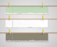 Set of vector paper banners Stock Photo