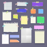 Set of vector paper poster mockup, notes, banners, sticky. Set of isolated realistic empty vector paper poster mockup, notes, sticky, colorful banners and Royalty Free Stock Image