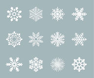 Set of vector paper snowflakes Stock Images