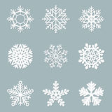 Set of vector paper snowflakes Royalty Free Stock Photo