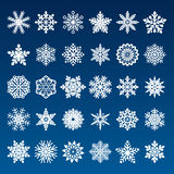 Set of vector paper snowflakes Stock Photos