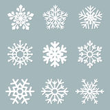 Set of vector paper snowflakes Royalty Free Stock Photos