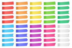 Set of vector paper stickers Stock Images