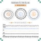 Set with vector pattern hand drawn brushes. Set with seamless vector pattern hand drawn brushes for illustrator. EPS 10 Royalty Free Stock Photos