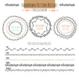 Set with vector pattern hand drawn brushes Stock Photos