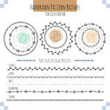 Set with vector pattern hand drawn brushes Royalty Free Stock Photos