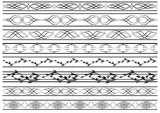 Set of vector patterned borders Royalty Free Stock Image