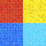 Set of vector patterns of colorful mosaic. Stock Photo