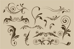 Set of vector patterns for design Stock Photography