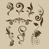 Set of vector patterns for design Royalty Free Stock Photography