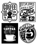 Set of vector patterns with inscriptions in retro style for coffee Royalty Free Stock Image