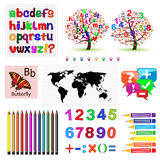 Set of vector patterns for school Royalty Free Stock Photography